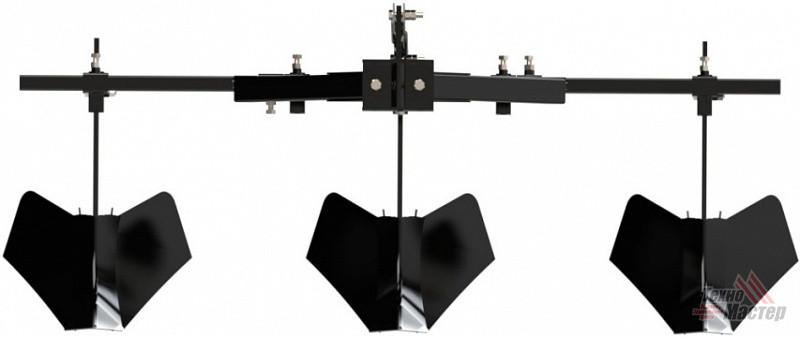 Фото Тройной окучник для минитрактора Скаут