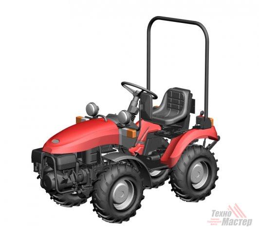 Трактор малогабаритный Беларус-152 (двиг. «Honda», 13 л.с.,с установкой грузов 05-4235011-А)